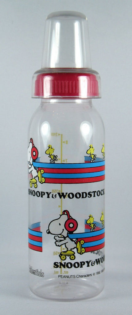 Snoopy Nurser Bottle - Snoopy Skating
