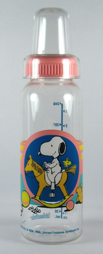 Snoopy Nurser Bottle - Snoopy On Rocking Horse