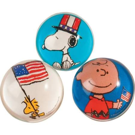 Peanuts Patriotic Large Bouncy Balls