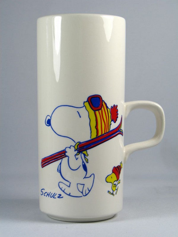 Snoopy Skiing Vase - To The Bunny Slope!