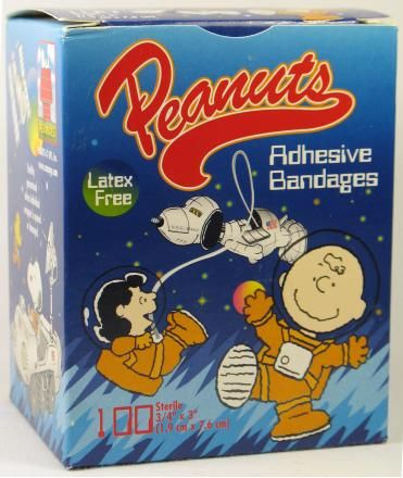 "Charlie Brown and Lucy ""Band-Aids"" Bandages - Full Box! Great Value!"