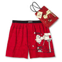 Charlie Brown Valentine's Day Boxers With Gift Bag and Tag