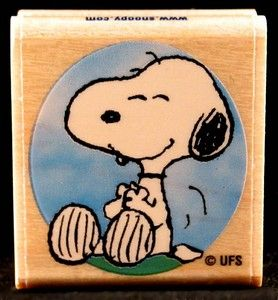 Snoopy RUBBER STAMP - Used But MINT Condition