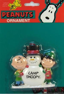 ADLER PEANUTS GANG CAMP SNOOPY Ornament