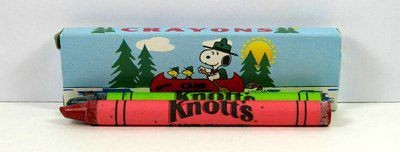 Knott's Camp Snoopy Vintage Crayon Set