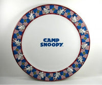 Camp Snoopy Dinner Plate With Raised Images