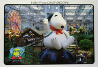 Camp Snoopy Inflated Snoopy Post Card