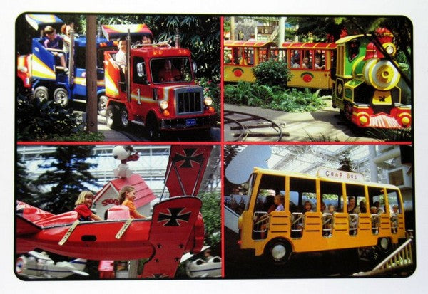 Camp Snoopy Kiddie Rides Post Card