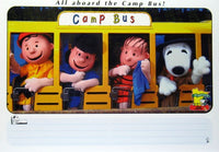 Camp Snoopy Peanuts Gang On Bus Post Card