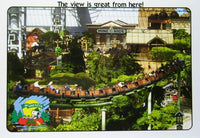 Camp Snoopy Roller Coaster Post Card