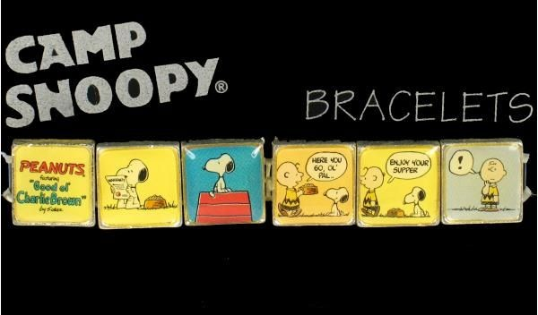 Camp Snoopy Tile Bracelet - Charlie Brown & Snoopy Comic Strip
