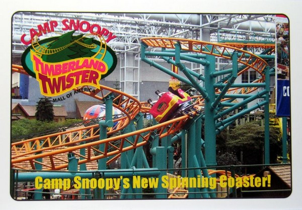 Camp Snoopy Twister Post Card