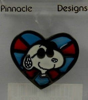 Joe Cool Stained Glass Pin