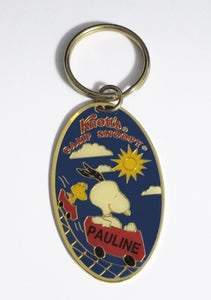 "Knott's Camp Snoopy Personalized Key Ring - ""Pauline"""