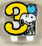 Snoopy #3 Birthday Candle (New But Fair Condition)