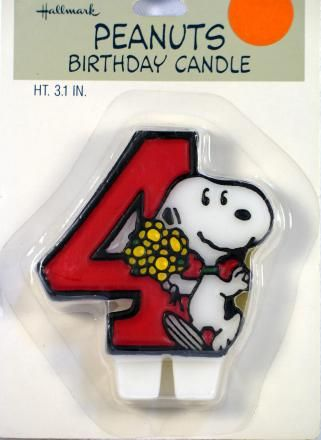 Snoopy #4 Candle (New But Near Mint)