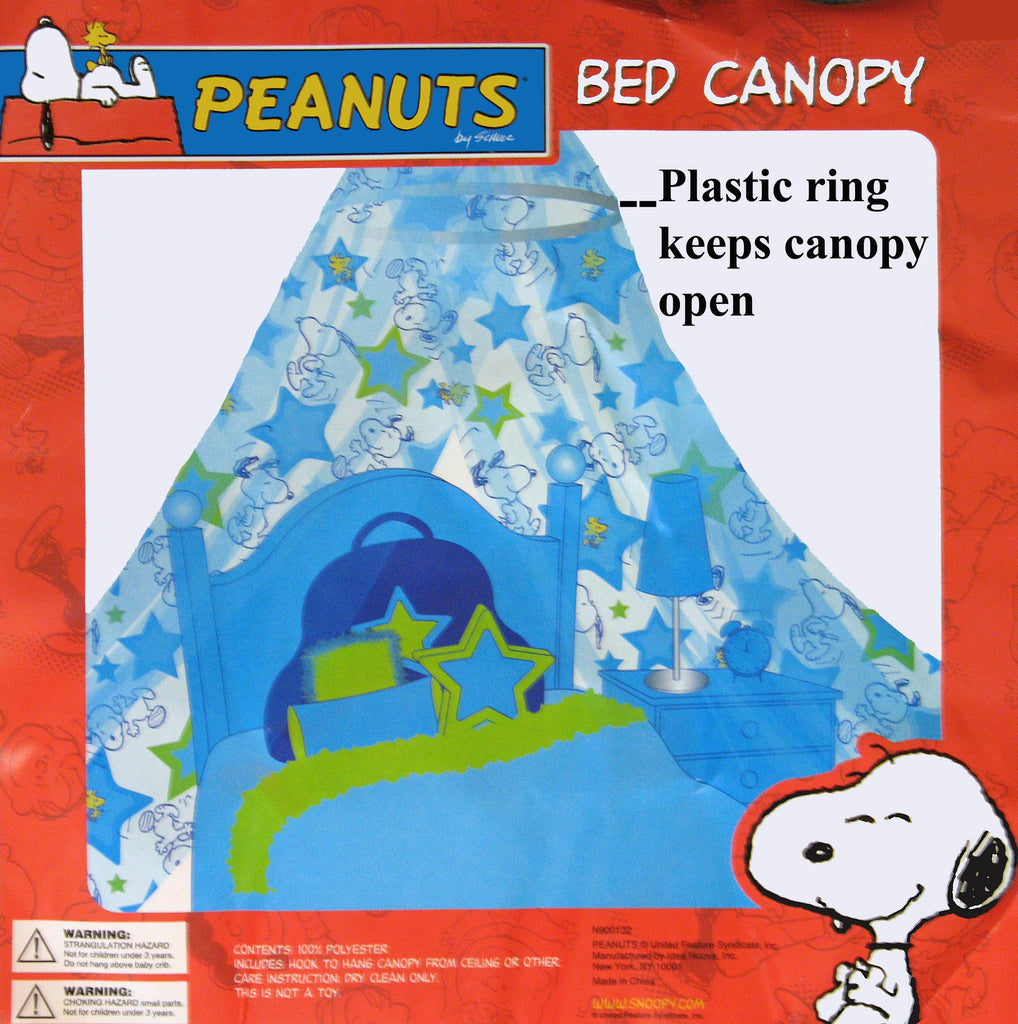 Peanuts Bed Canopy - Feel Like Royalty!