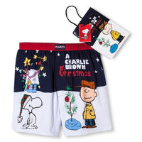 Charlie Brown Christmas Boxers With Gift Bag and Tag