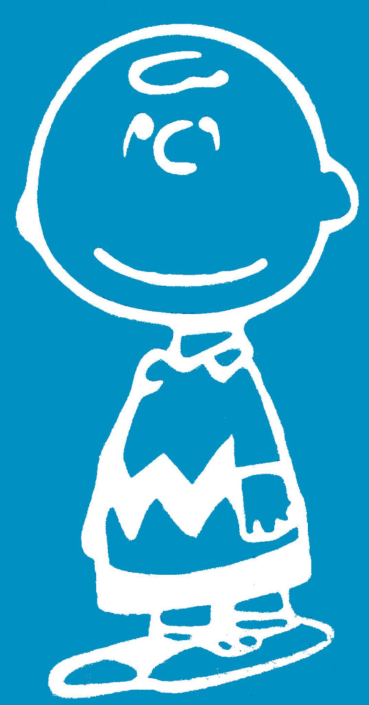 Charlie Brown Die-Cut Vinyl Decal - White