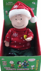 "Charlie Brown Santa Musical Doll (Plays Original ""Christmas Time Is Here"" tune)"