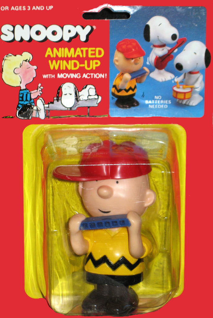Charlie Brown Wind Up Harmonica Toy