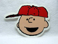 Charlie Brown Vinyl Sticker - Baseball Cap