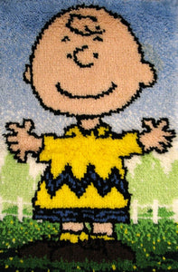 Charlie Brown Latch Hook Wall Hanging / Rug