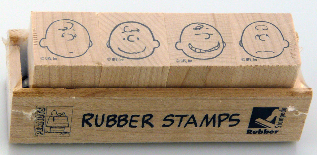Charlie Brown Mini Rubber Stamp Set - RARE! (Used But MINT Condition)
