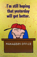 Laminated Wall Poster - Charlie Brown Manager