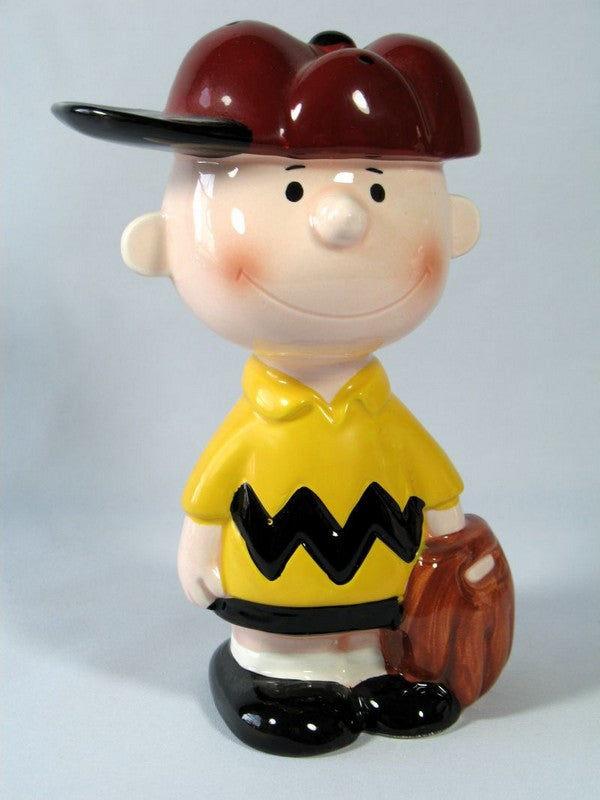 PEANUTS BASEBALL SERIES PORCELAIN BANK - Charlie Brown