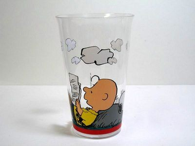 Charlie Brown and Snoopy Drinking Glass