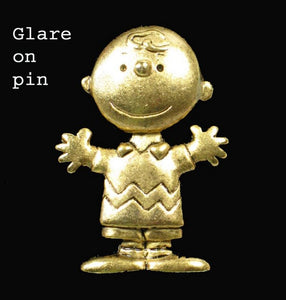 Charlie Brown Brass Pin
