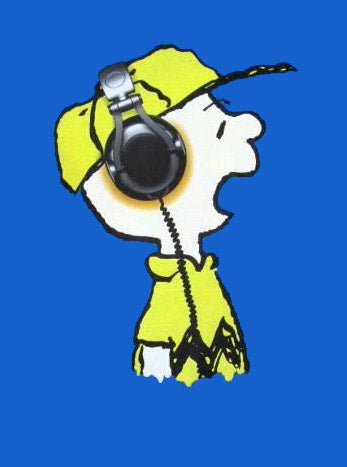 Charlie Brown Headphones T-Shirt (2XL Size Available)
