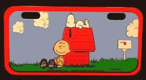 CHARLIE BROWN AND SNOOPY Mini License Plate