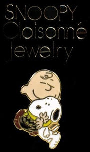 Charlie Brown and Snoopy Cloisonne Pin
