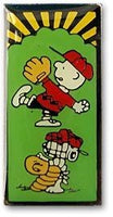 Charlie Brown and Snoopy Baseball Pin