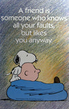 Charlie Brown and Snoopy Wall Poster