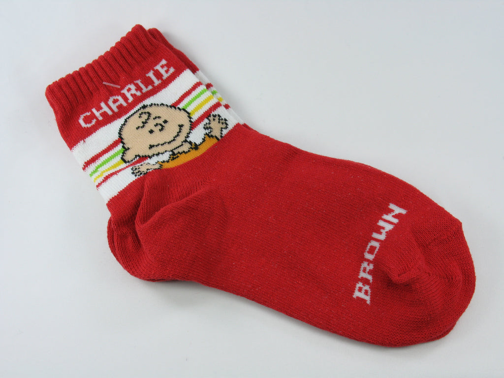 Kids Crew Length Charlie Brown Socks (Size 7-8 1/2)