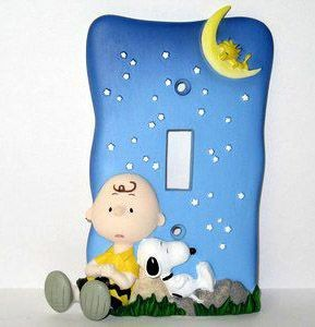 2-D Charlie Brown Under The Stars Switch Plate
