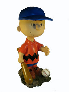 Charlie Brown Garden Statue - Red Shirt