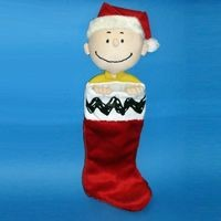 CHARLIE BROWN PLUSH CHRISTMAS STOCKING