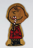 Charlie Brown Wood Christmas Ornament
