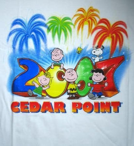 2007 Cedar Point Peanuts Gang T-Shirt