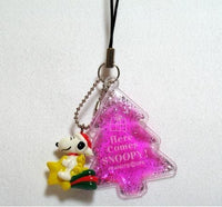 Snoopy Cell Phone Strap with Gel-Filled Tree & PVC Key Chain