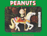 Peanuts Porcelain Carousel Horse Christmas Ornament - Charlie Brown