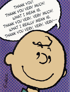 Charlie Brown Vintage Thank You Cards
