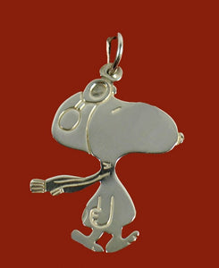Flying Ace 100% Sterling Silver Pendant