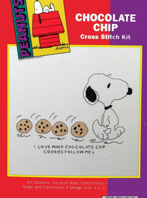 Snoopy Cross Stitch Kit - Chocolate Chip Cookies