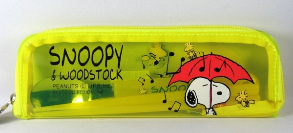 Snoopy and Woodstock Dining Utensil and Chop Sticks Set