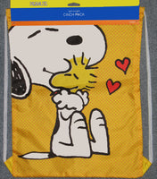 Peanuts Nylon Cinch Pack Tote - Snoopy